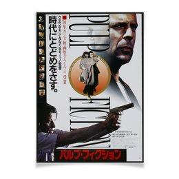 "Плакат A3(29.7x42) ""Криминальное чтиво / Pulp Fiction"" - ума турман, криминальное чтиво, pulp fiction, брюс уиллис, квентин тарантино"