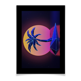 """Плакат A3(29.7x42) """"Ретровейв"""" - ретро, 80-е, вебпанк, retrowave, ретровейв"""