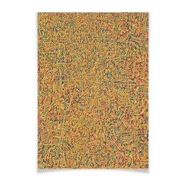 """Плакат A3(29.7x42) """"Сандал"""" - арт, узор, абстракция, фигуры, текстура"""