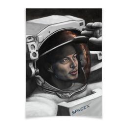 "Плакат A3(29.7x42) ""Илон Маск"" - космос, маск, spacex, вселенная, thespaceway"