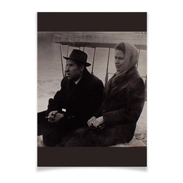 "Плакат A3(29.7x42) ""Ретро."" - ретро, пара, фотография, мужчина и женщина, черно-белая фотография"