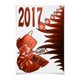"""Плакат A3(29.7x42) """"Новогодний сюрприз"""" - новый год, подарок, сюрприз, новогодний, 2017"""