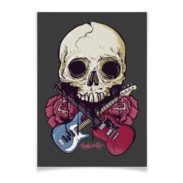 """Плакат A3(29.7x42) """"Rock in Rio - фестиваль рок музыки"""" - heavy metal, рок музыка, skull, хеви метал, череп"""