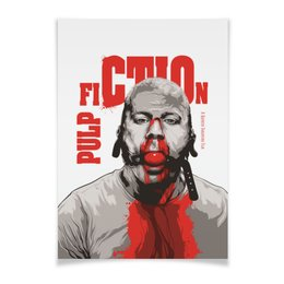 "Плакат A3(29.7x42) ""Pulp Fiction (Брюс Уиллис)"" - кино, тарантино, криминальное чтиво, pulp fiction, брюс уиллис"
