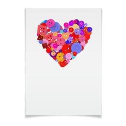 """Плакат A3(29.7x42) """"День всех влюбленных"""" - любовь, день святого валентина, валентинка, i love you, день влюбленных"""