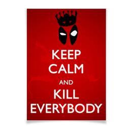 "Плакат A3(29.7x42) ""Дэдпул (Deadpool)"" - комиксы, deadpool, дэдпул, marve, марве"