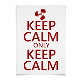 """Плакат A3(29.7x42) """"Keep calm"""" - карлсон, спокойствие, keep calm, пропеллер, советские мультфильмы"""