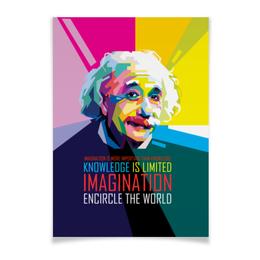 """Плакат A3(29.7x42) """"Альберт Эйнштейн"""" - арт, наука, личности, эйнштейн, учёные"""
