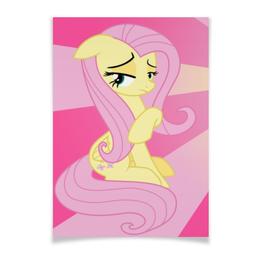 "Плакат A3(29.7x42) ""Fluttershy Color Line"" - magic, fim, fluttershy, cutiemark, friendship"