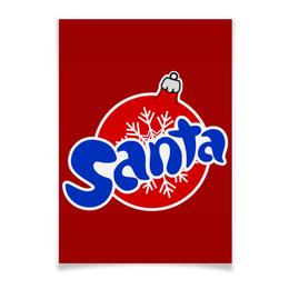 """Плакат A3(29.7x42) """"Santa"""" - новый год, логотип, дед мороз, санта, фанта"""