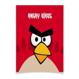 """Плакат A3(29.7x42) """"Angry Birds (Terence)"""" - птички, terence, angry birds, компьютерная игра, мультфильм"""