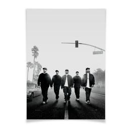 "Плакат A3(29.7x42) ""Прямиком из Комптона"" - rap, hip hop, nwa, голос улиц, straight outta compton"