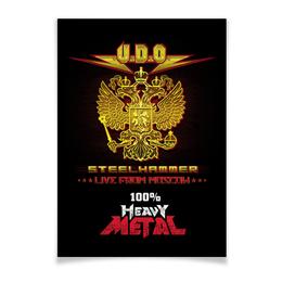 "Плакат A3(29.7x42) ""U.D.O. Band"" - heavy metal, accept, udo, udo dirkschneider, удо диркшнайдер"