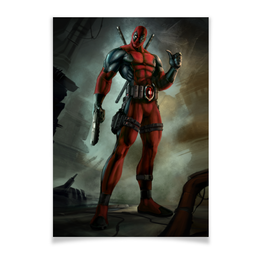 "Плакат A3(29.7x42) ""Deadpool"" - супергерой, марвел, hero, дэдпул"