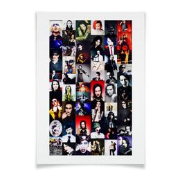 "Плакат A3(29.7x42) ""Мэнсон"" - готика, рок, менсон, мэрлин мэнсон, sweetdreams"