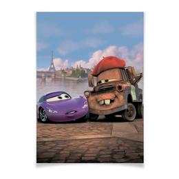 """Плакат A3(29.7x42) """"Тачки"""" - мультфильм, дисней, машина, тачки, молния"""