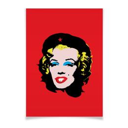 """Плакат A3(29.7x42) """"Che Guevara- Marilyn Monroe"""" - мерлин монро, чегевара, америка, революция, феминизм"""