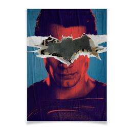 """Плакат A3(29.7x42) """"Бэтмен против Супермена"""" - супермен, batman, superman, комиксы, бэтмен"""