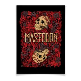 """Плакат A3(29.7x42) """"Mastodon Band"""" - skull, череп, heavy metal, рок группа, mastodon"""