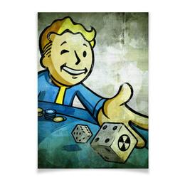 """Плакат A3(29.7x42) """"Vault boy"""" - игры, фоллаут, vault boy, фоллыч"""