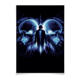 "Плакат A3(29.7x42) ""Эффект бабочки"" - череп, кино, фантастика, будущее, эштон катчер"