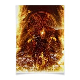 """Плакат A3(29.7x42) """"Призрачный гонщик"""" - комиксы, пламя, марвел, призрачный гонщик, ghost rider"""