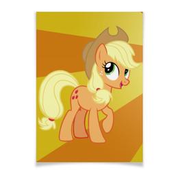 "Плакат A3(29.7x42) ""AppleJack Color Line"" - magic, fim, applejack, cutiemark, friendship"