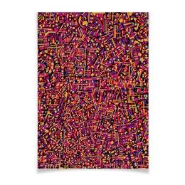 "Плакат A3(29.7x42) ""Карамель."" - арт, узор, абстракция, фигуры, текстура"
