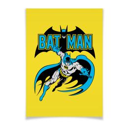 """Плакат A3(29.7x42) """"Бэтмен"""" - комиксы, batman, супергерои, бэтмен, vintage"""