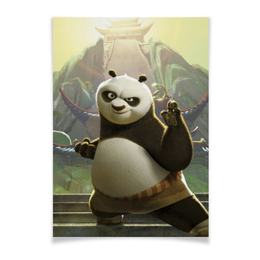 "Плакат A3(29.7x42) ""Кунг-фу панда"" - медведь, мультфильм, панда, приключения, kung-fu panda"