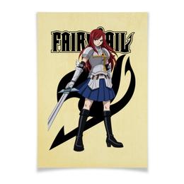 "Плакат A3(29.7x42) ""Эрза Скарлет. Fairy Tail"" - аниме, манга, fairy tail, хвост феи, эрза скарлет"