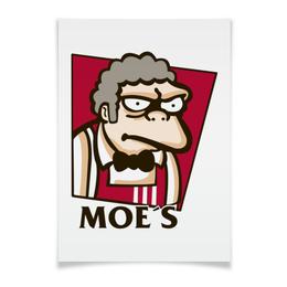 "Плакат A3(29.7x42) ""Симпсоны у Мо"" - гомер, simpsons, пиво, симпсоны, kfc"