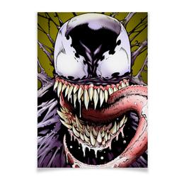"Плакат A3(29.7x42) ""Веном (Venom)"" - марвел, комиксы, веном, симбиот, venom"
