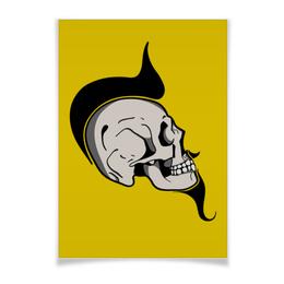 "Плакат A3(29.7x42) ""SKULLPOSTER"" - череп, арт, рок, комикс, борода"