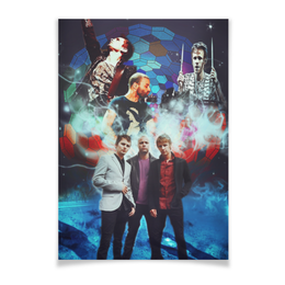 "Плакат A3(29.7x42) ""Muse our galaxy"" - рок, muse, мьюз, для мьюзеров, drones"