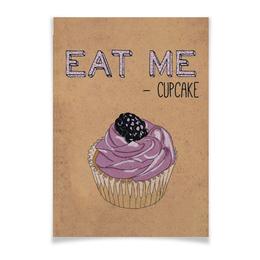 """Плакат A3(29.7x42) """"Eat Me"""" - еда, выпечка, кексы, капкейки"""