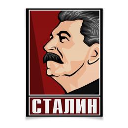 "Плакат A3(29.7x42) ""Сталин"" - ссср, поп-арт, россия, коммунизм, коммунист"