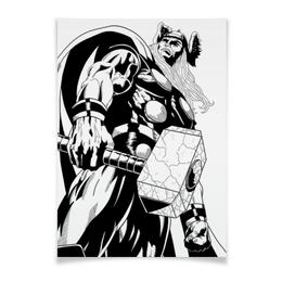 "Плакат A3(29.7x42) ""Тор  "" - комиксы, марвел, thor"