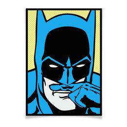 """Плакат A3(29.7x42) """"Бэтмен"""" - комиксы, batman, супергерои, бэтмен, усы"""