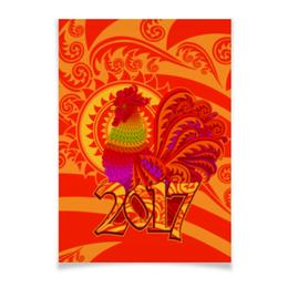 "Плакат A3(29.7x42) ""Год петуха"" - с новым годом, новый год, happy new year, символ года, 2017"