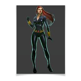 """Плакат A3(29.7x42) """"Черная Вдова / Black Widow"""" - мстители, avengers, черная вдова, black widow"""