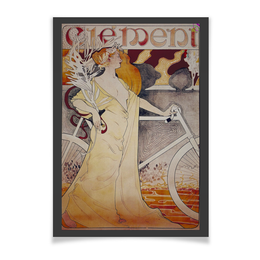 "Плакат A3(29.7x42) ""Ретроспектива"" - ретро, рисунок, велосипед, велоспорт, старые плакаты"
