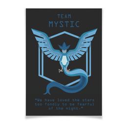 "Плакат A3(29.7x42) ""Team Mystic"" - мультфильм, pokemon, покемон, мистик, mystic"