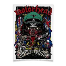 "Плакат A3(29.7x42) ""Motorhead"" - heavy metal, рок музыка, рок группа, motorhead, lemmy kilmister"