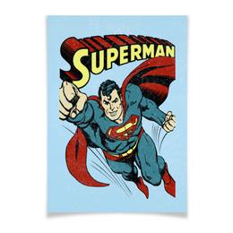 """Плакат A3(29.7x42) """"Супермен"""" - супермен, комиксы, superman, супергерои"""