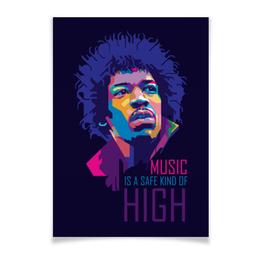 """Плакат A3(29.7x42) """"Джими Хендрикс"""" - музыка, рок, rock, jimi hendrix, джими хендрикс"""