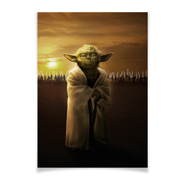 "Плакат A3(29.7x42) ""Звездные войны - Йода"" - звездные войны, фантастика, йода, дарт вейдер, star wars"
