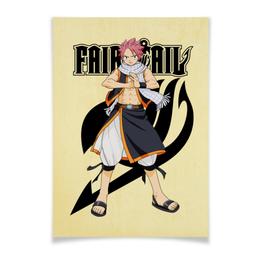 "Плакат A3(29.7x42) ""Fairy Tail. Нацу"" - аниме, манга, fairy tail, хвост феи, нацу"