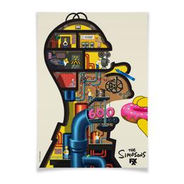 "Плакат A3(29.7x42) ""Симпсоны / Simpsons"" - гомер, simpsons, homer, симпсоны, гомер симпсон"