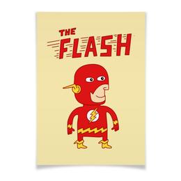 """Плакат A3(29.7x42) """"Флэш """" - flash, прикольные, комиксы, супергерои, флэш"""